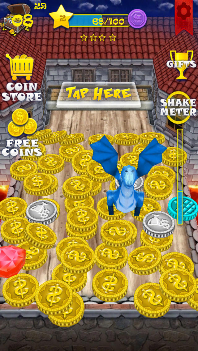 Download Castle Coin Dozer Story - Diamond, Dragon, and Jewel Prizes Mania (HD) App on your Windows XP/7/8/10 and MAC PC