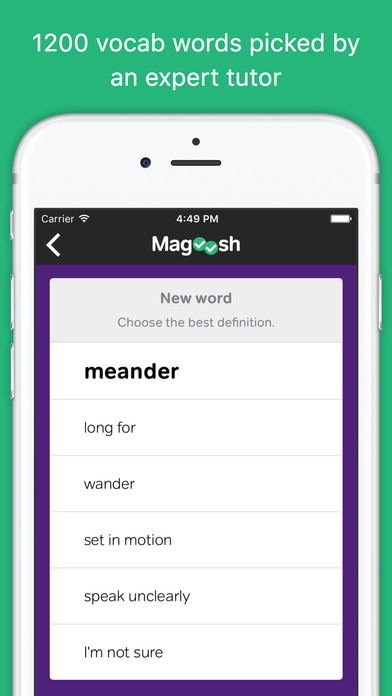 Download Vocabulary Builder from Magoosh App on your Windows XP/7/8/10 and MAC PC